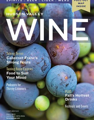 cover of fall 2019 Hudson Valley Wine magazine